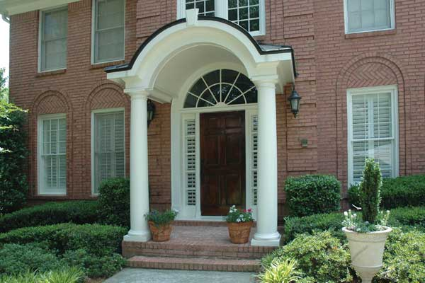 Entrance With Portico Columns : Porticos gallery front door overhang georgia porch
