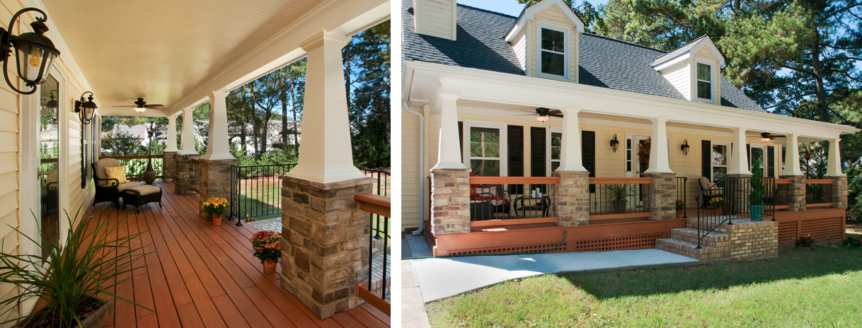 A craftsman porch makeover georgia front porch for Cape cod homes with front porches
