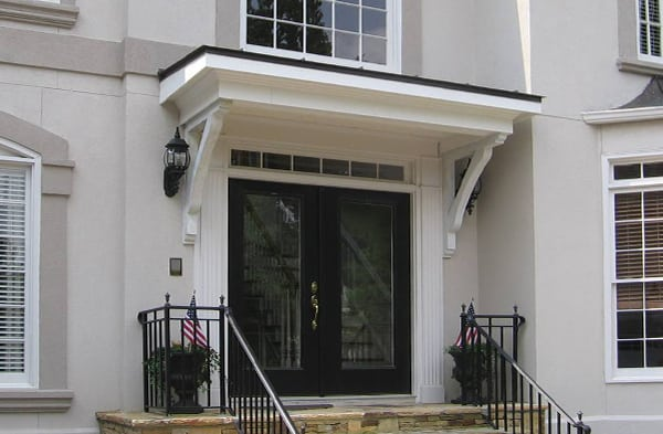 Porticos gallery front door overhang georgia front porch for Back door styles