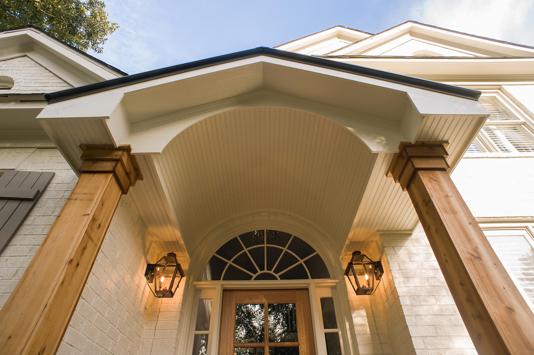 Timber Gabled Portico